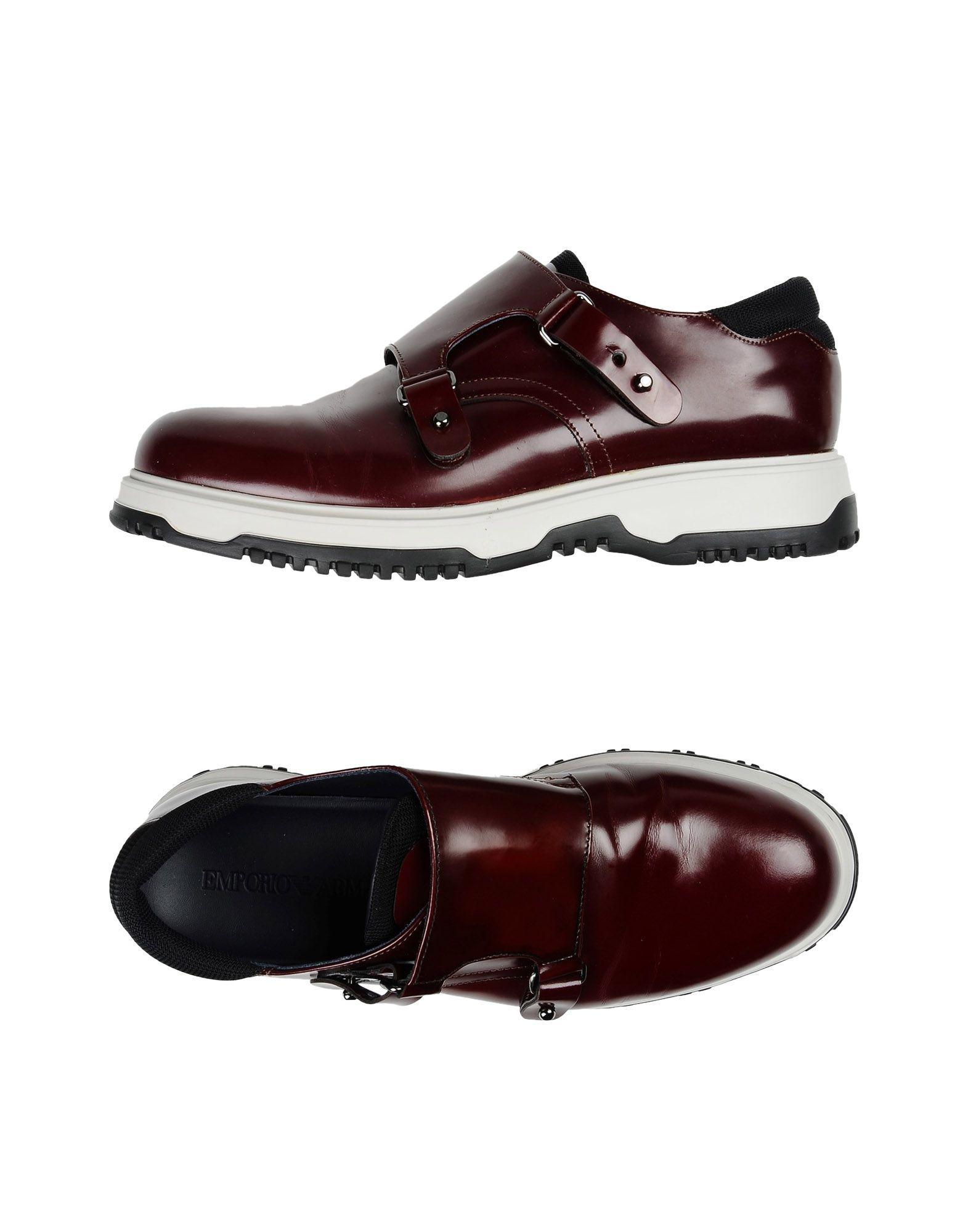 Armani Collezioni Sneakers In Rust