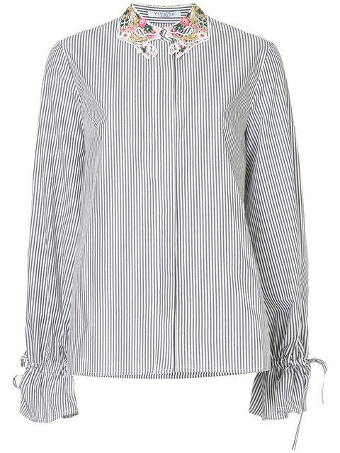 Vivetta Embellished Neck Shirt - Blue