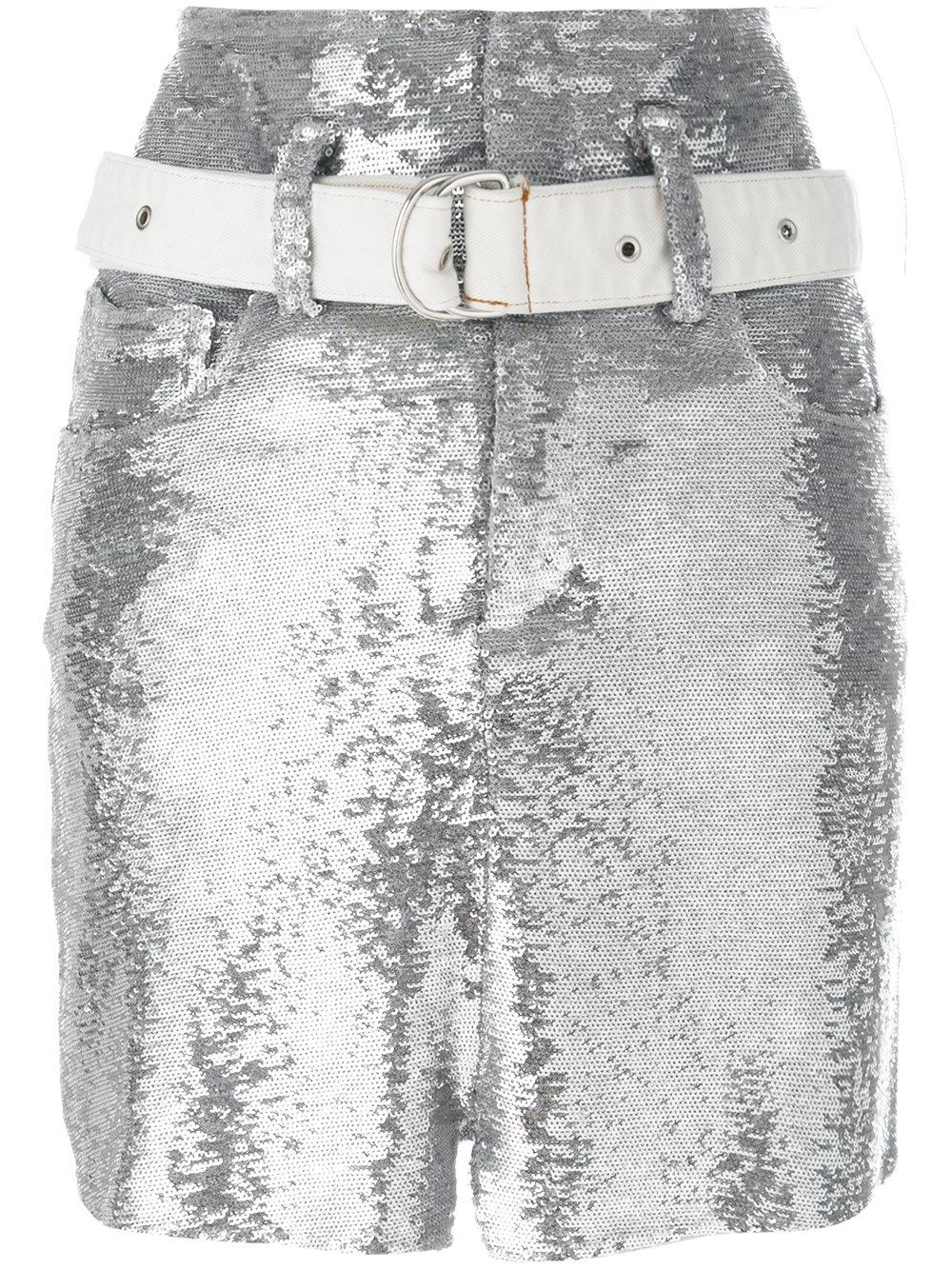 Iro Metallic Fitted Skirt