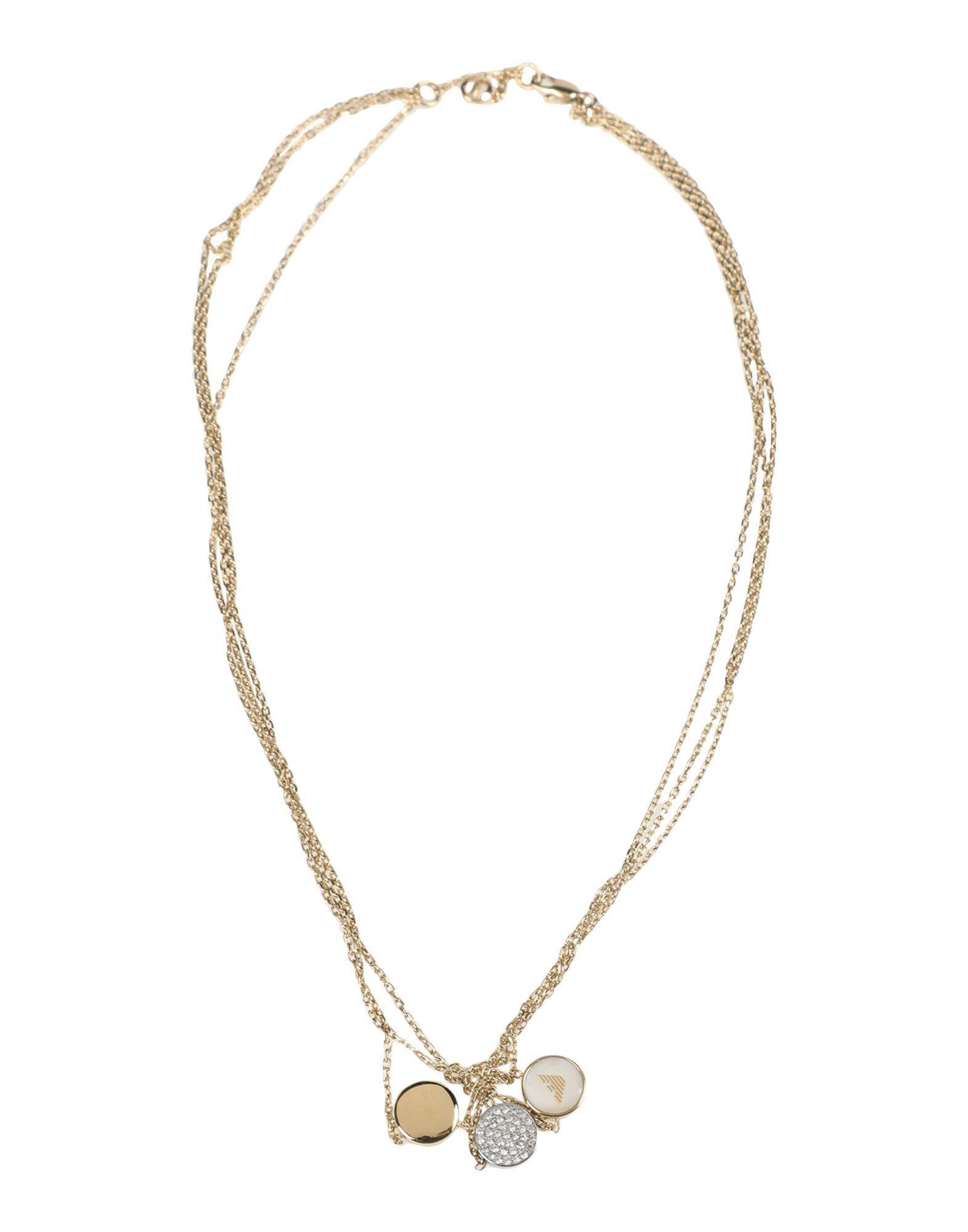 Emporio Armani Necklaces In Gold