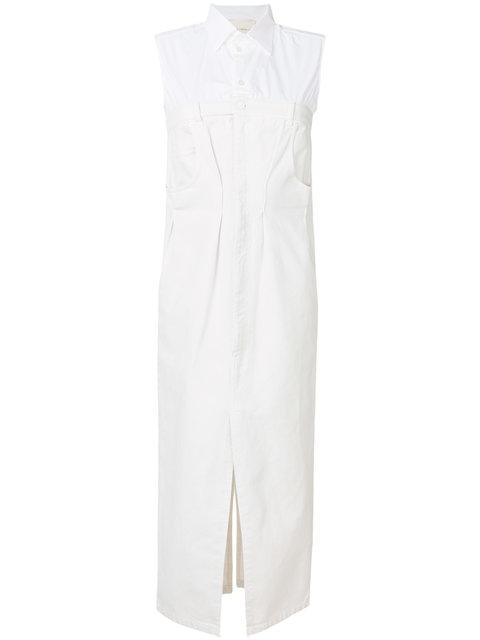Erika Cavallini Sleeveless Shirt Dress