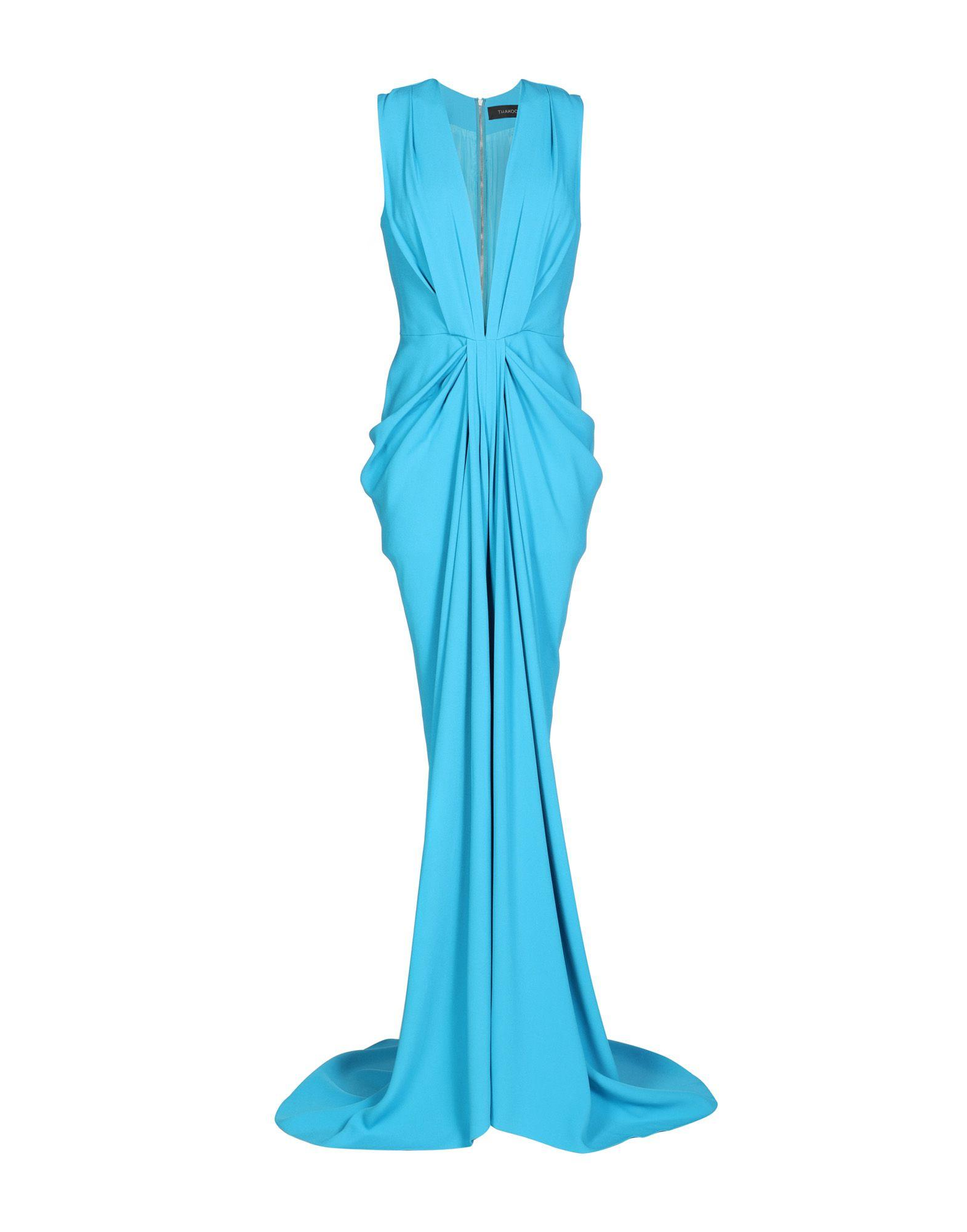 Thakoon Long Dress In Turquoise