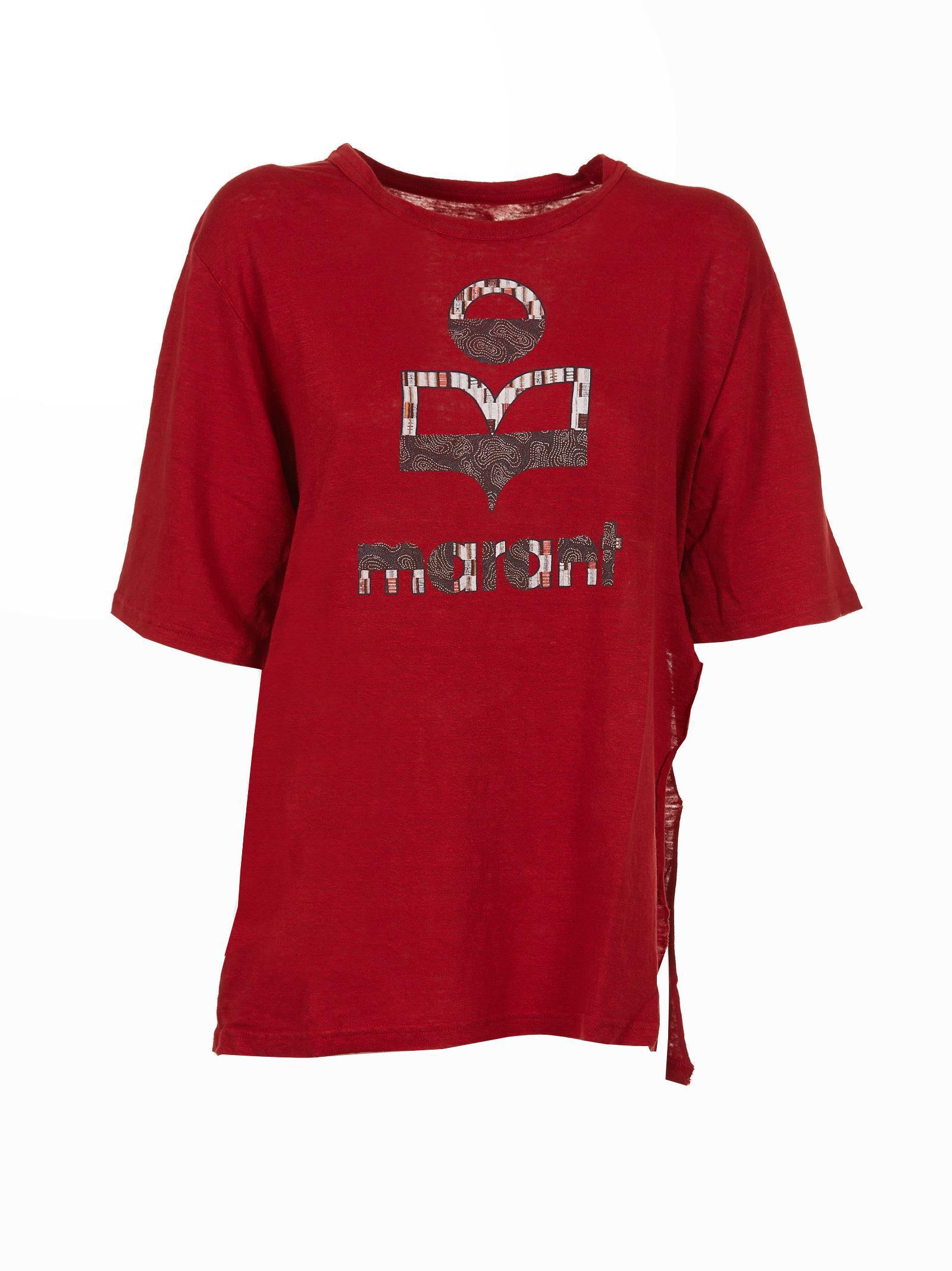 Etoile Isabel Marant Isabel Marant Étoile Logo Print T-shirt In Rosso