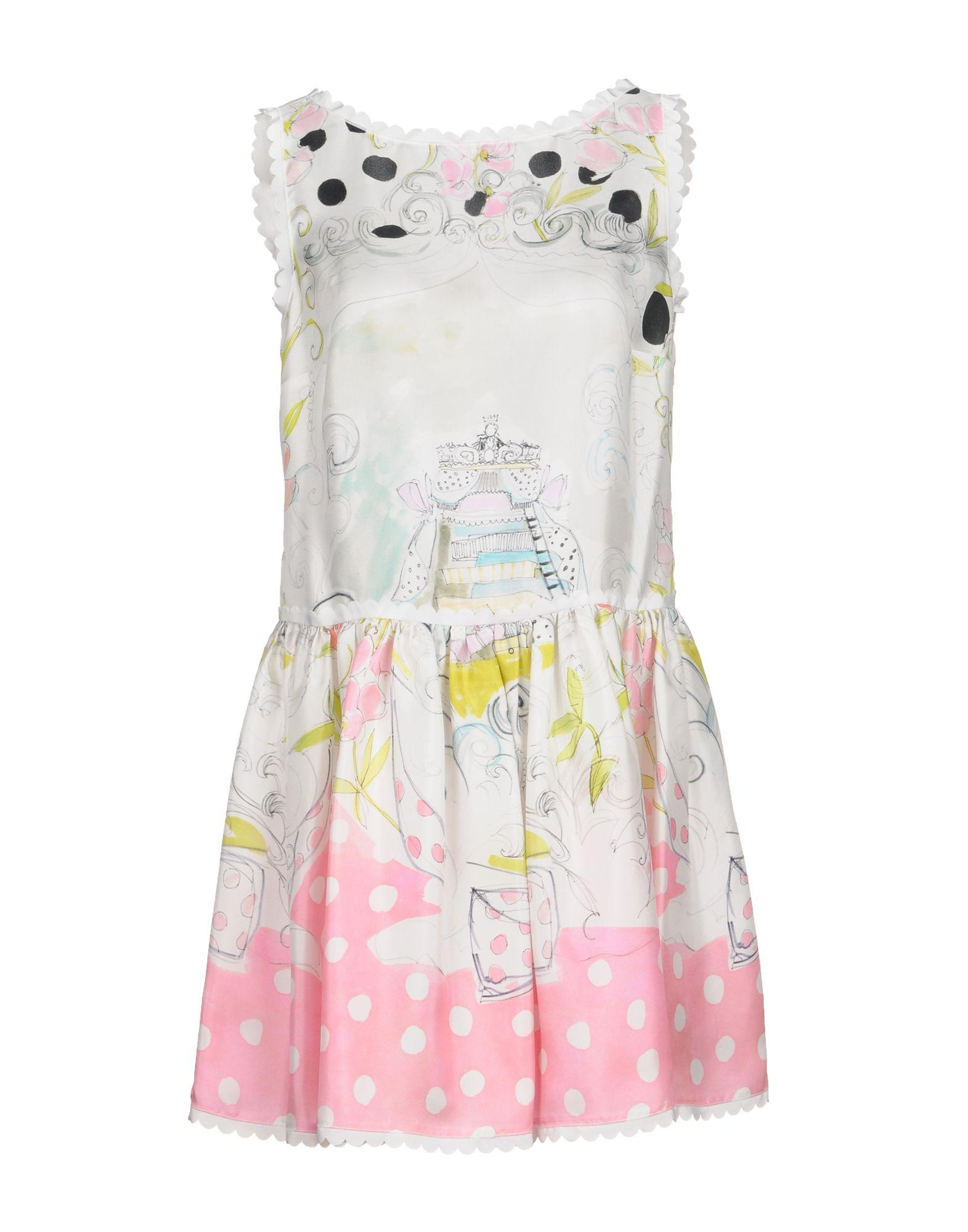 Red Valentino Short Dresses In Ivory