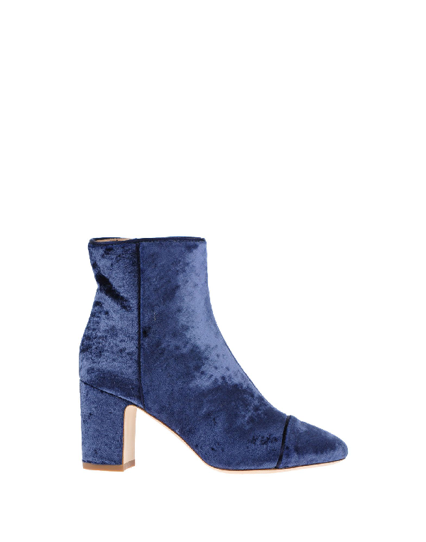 Polly Plume Ankle Boot In Blue