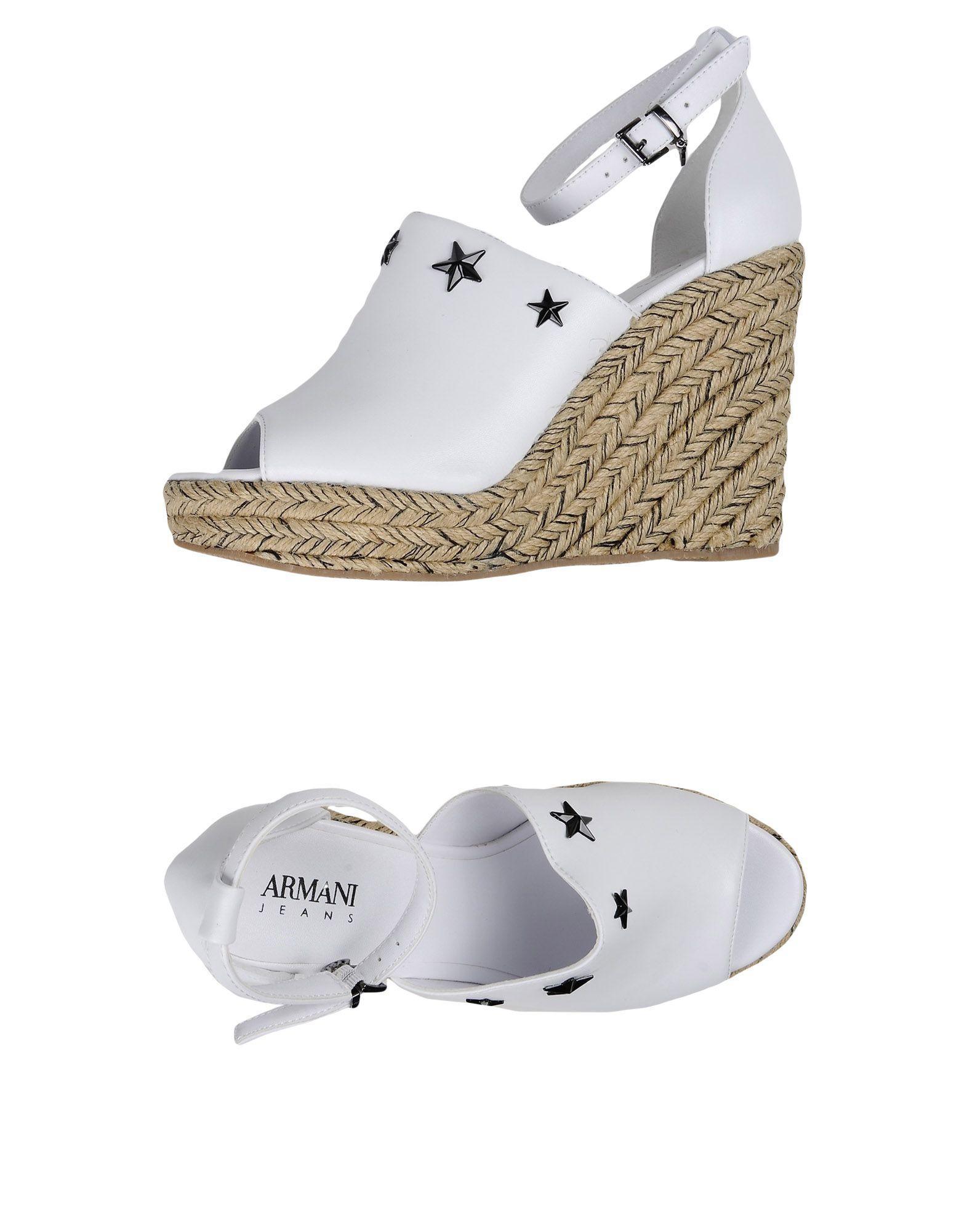 Armani Jeans Espadrilles In White