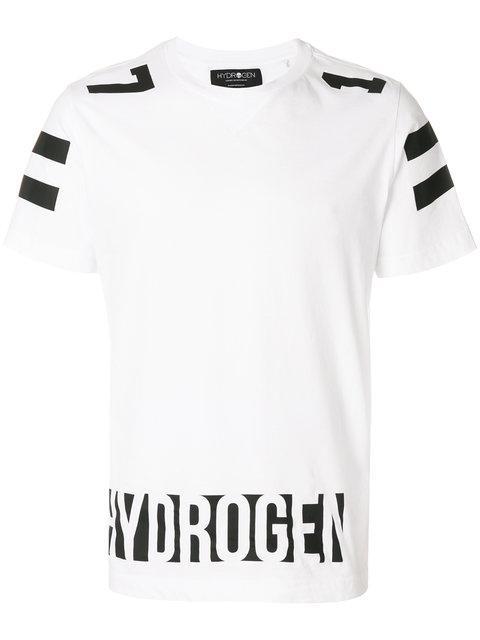 Hydrogen Logo Printed T-shirt - White