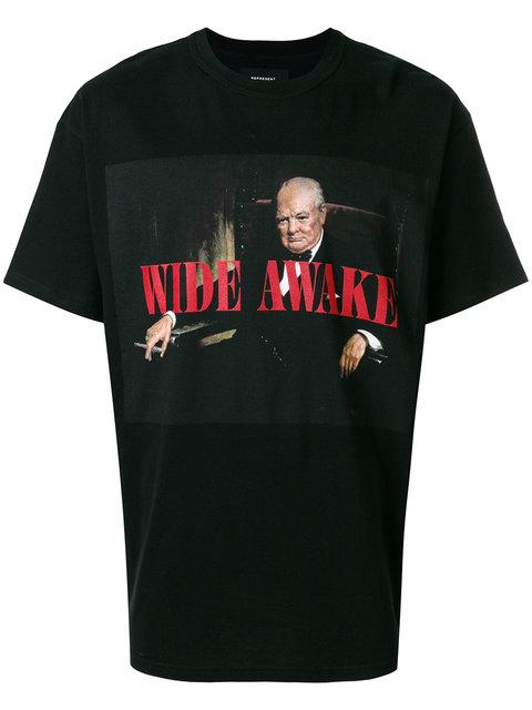 Represent Wide Awake Churchill T-shirt In Black