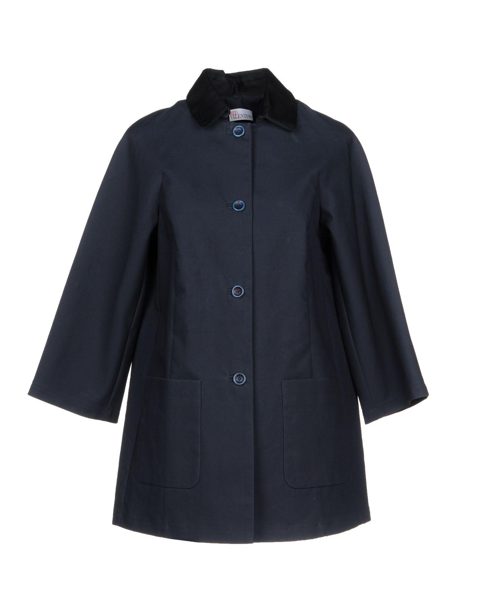 Red Valentino Coats In Dark Blue