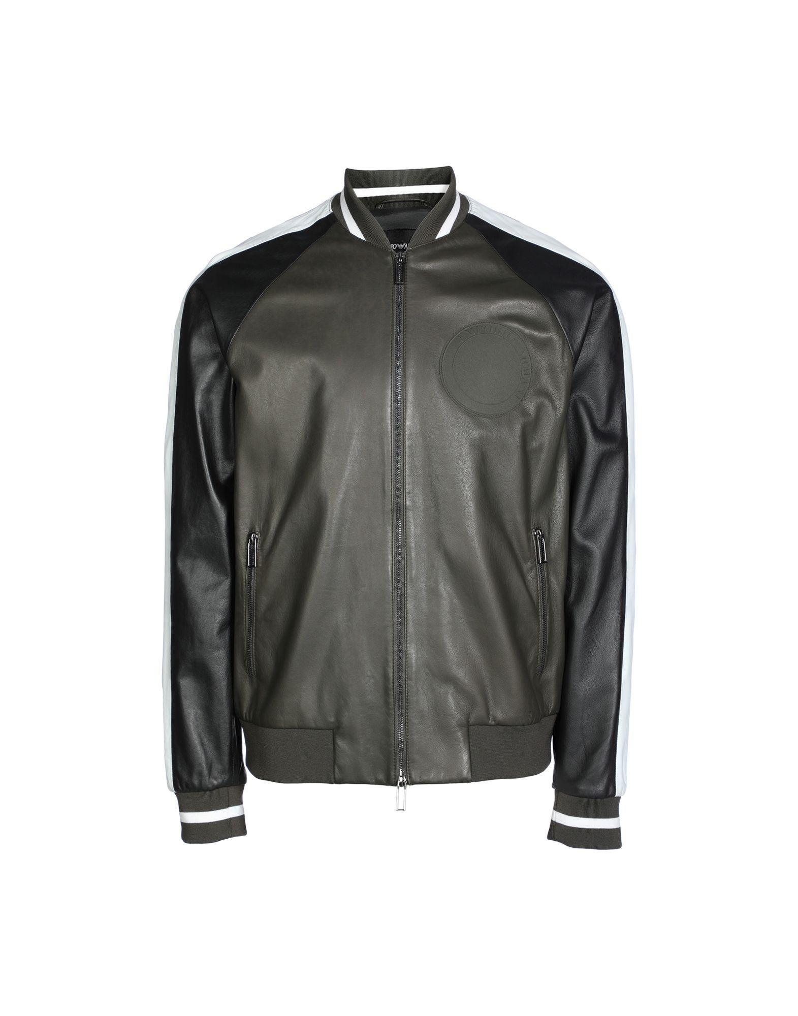 Emporio Armani Jackets In Black