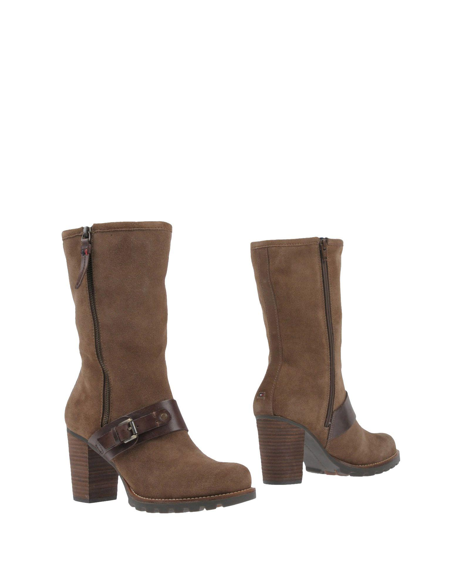 Tommy Hilfiger Ankle Boots In Khaki