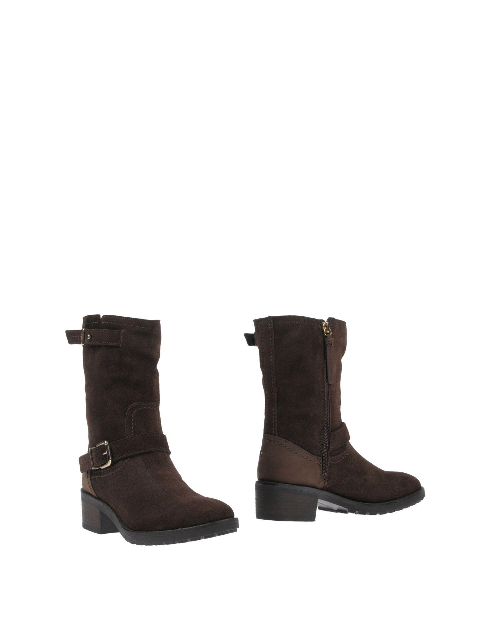 Tommy Hilfiger Ankle Boots In Dark Brown