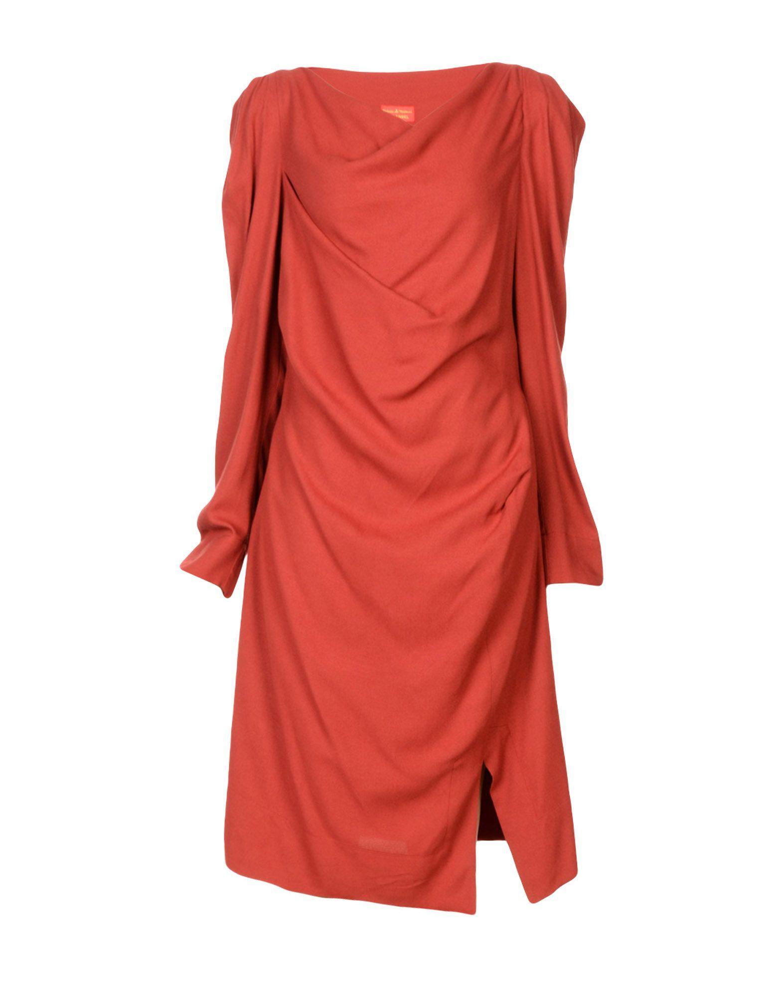 Vivienne Westwood Red Label Knee-length Dresses In Brick Red