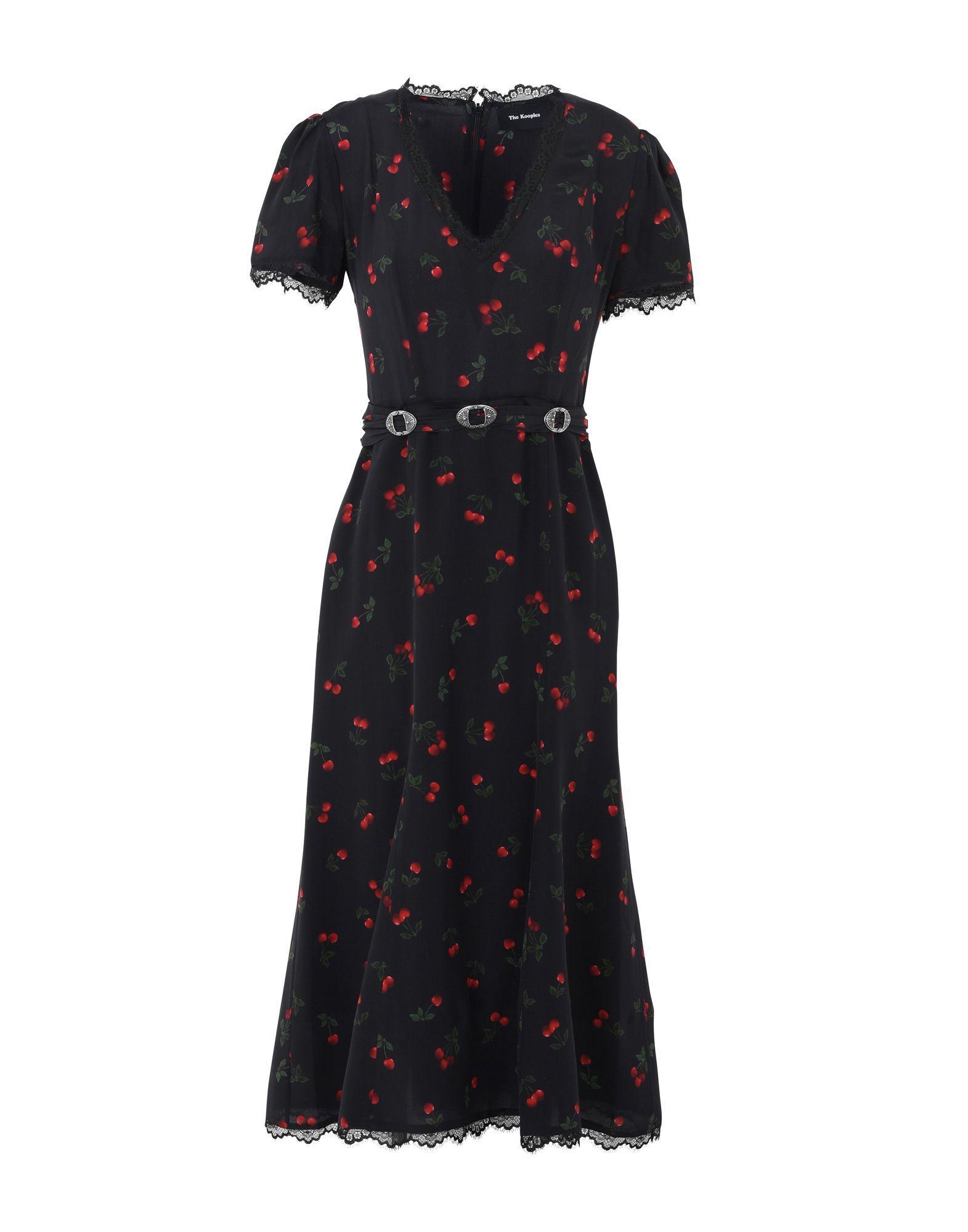 The Kooples 3/4 Length Dress In Black