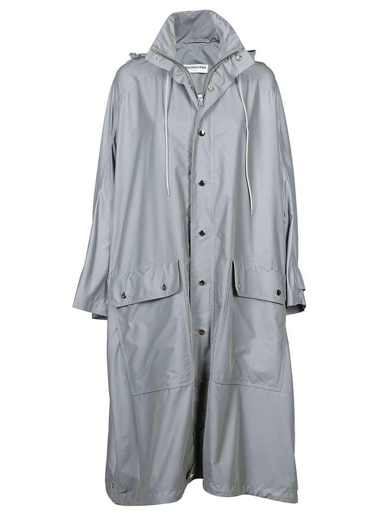 Balenciaga Trench Coat In Gris
