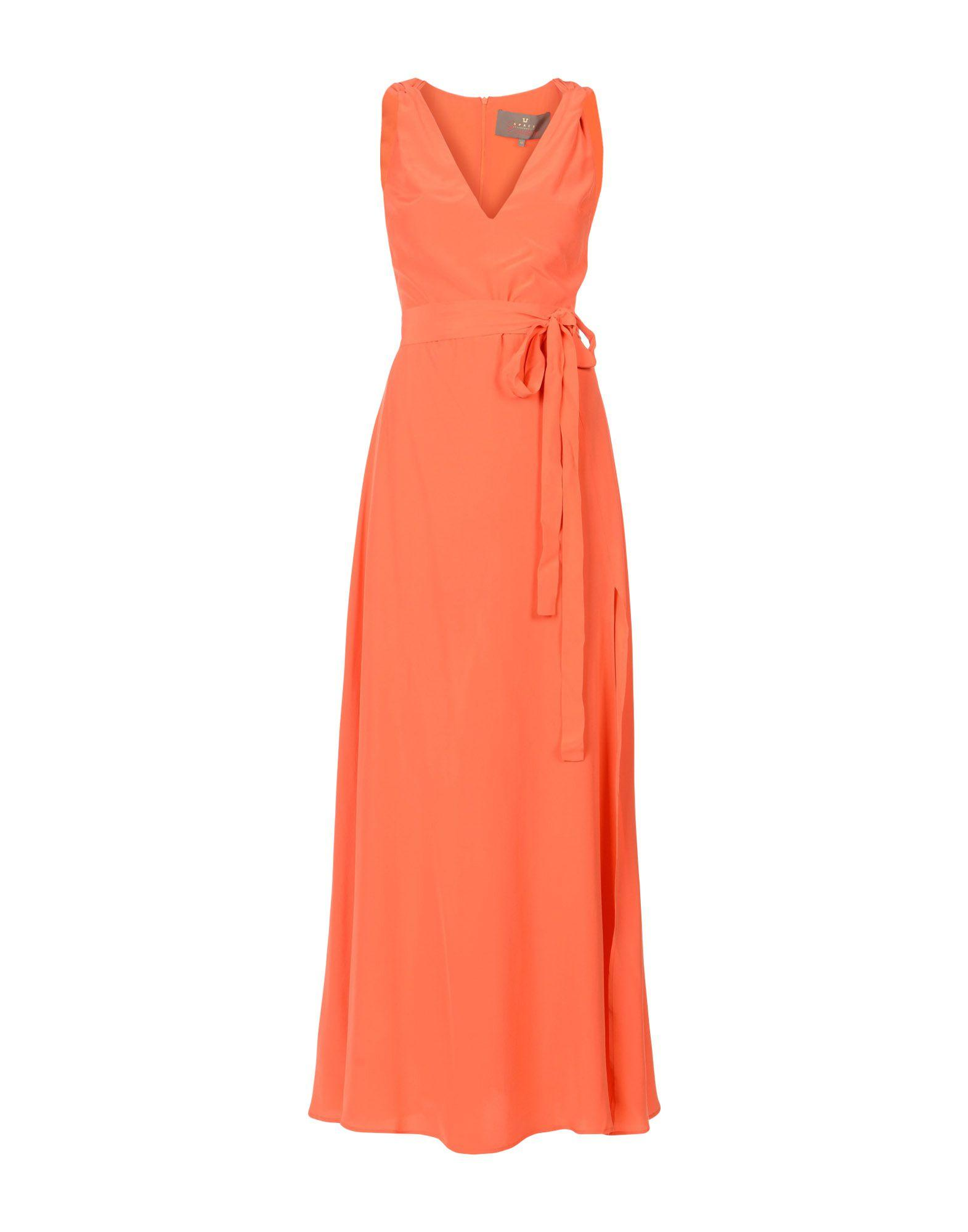 Space Style Concept Long Dresses In Orange