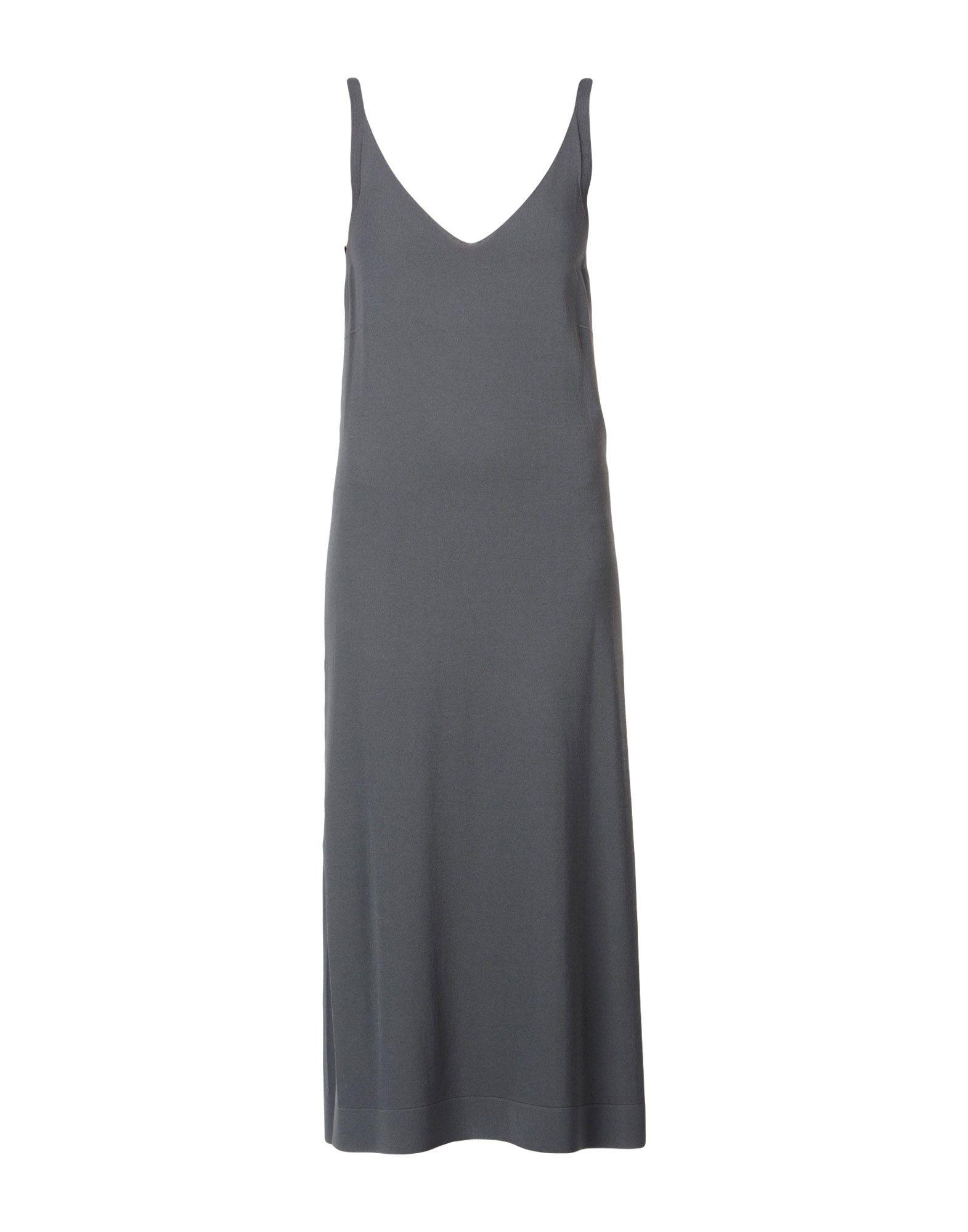 D.exterior 3/4 Length Dresses In Lead