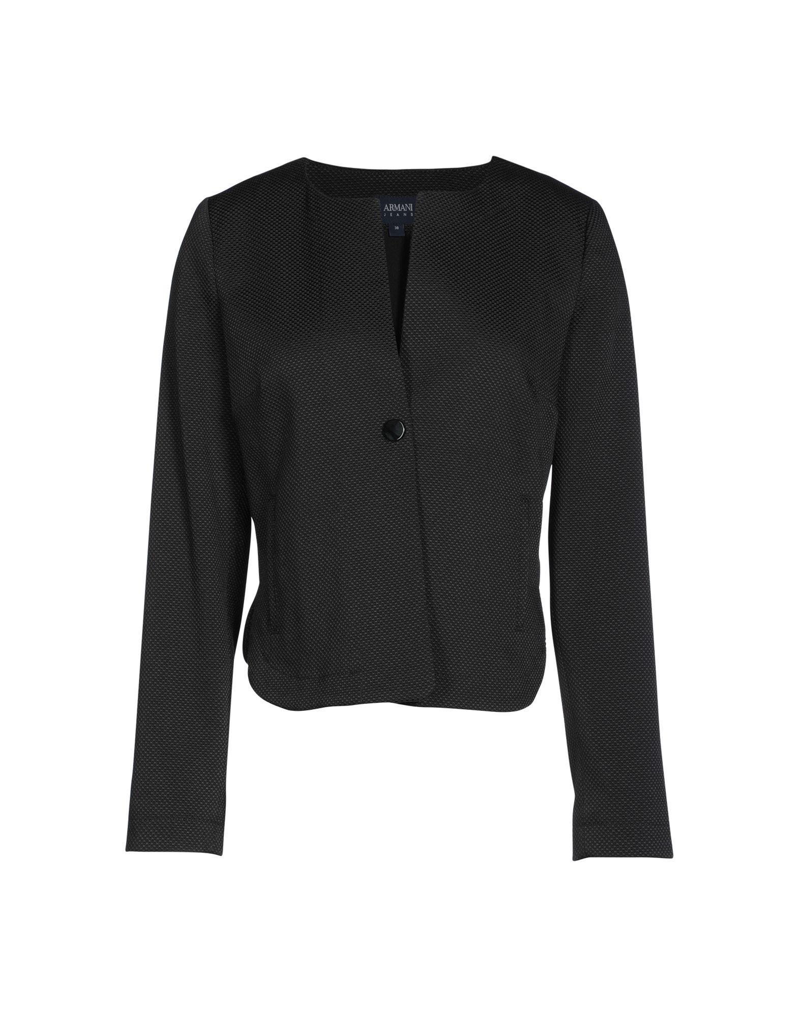 Armani Jeans Blazers In Black