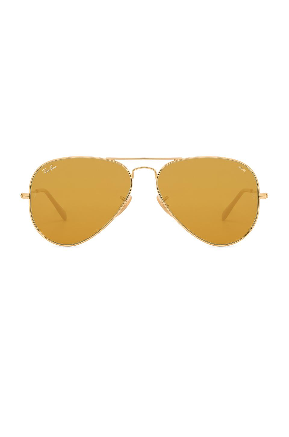Ray Ban Aviator Evolve In Metallic Gold