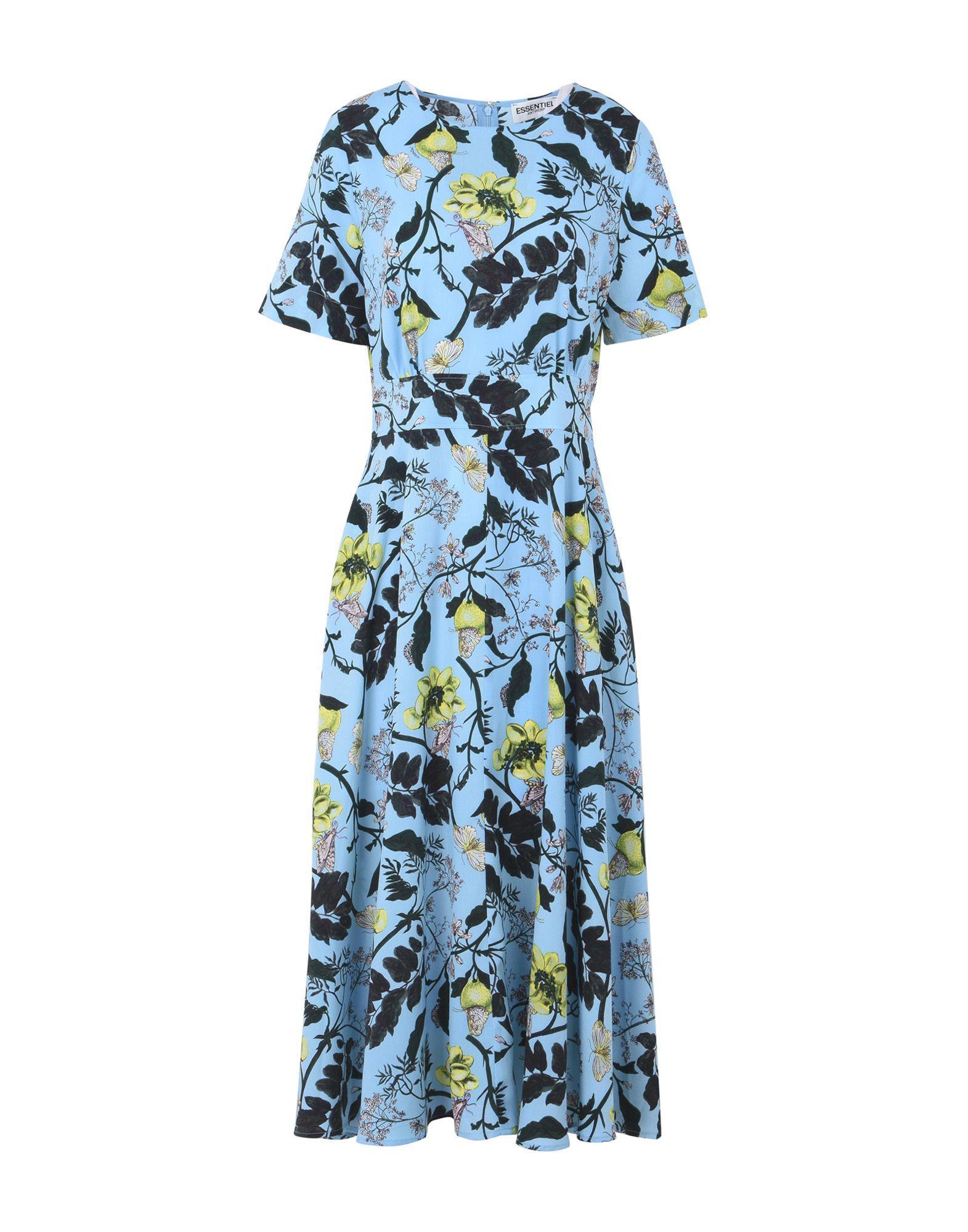 Essentiel Antwerp 3/4 Length Dresses In Turquoise