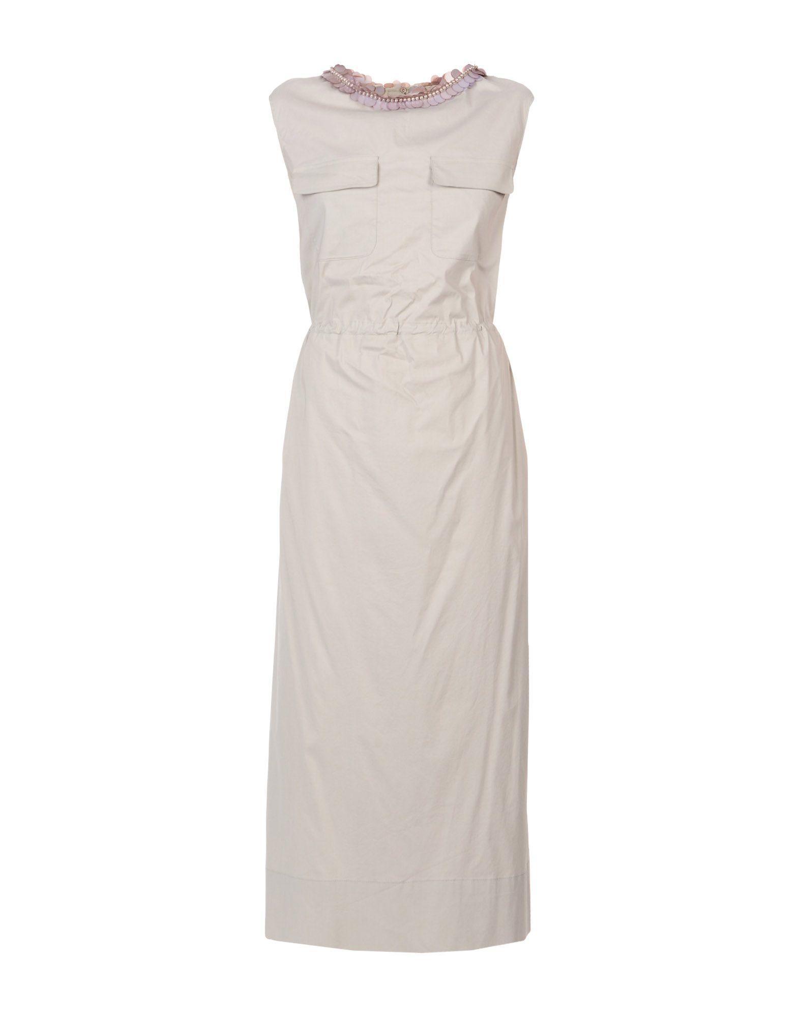 Liviana Conti Long Dresses In Light Grey