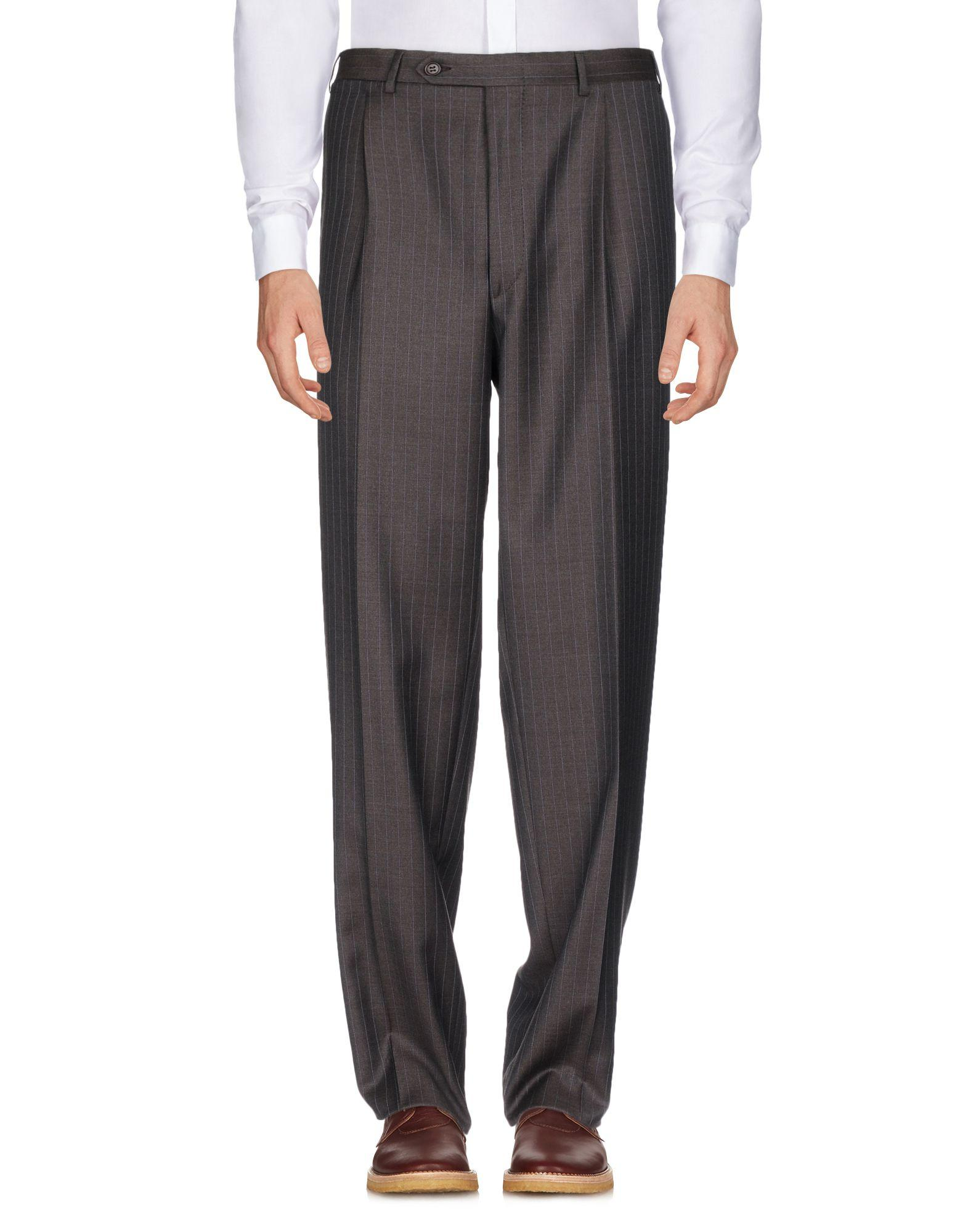 Canali Casual Pants In Dark Brown