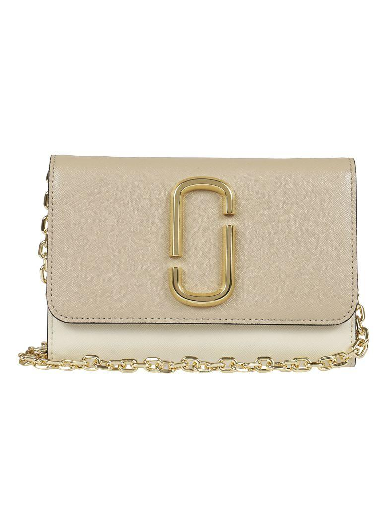 Marc Jacobs Snapshot Chain Continental Wallet In Nude & Neutrals
