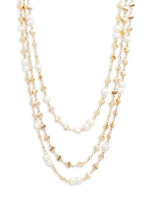Panacea Multi-strand Beaded Necklace In Pearl
