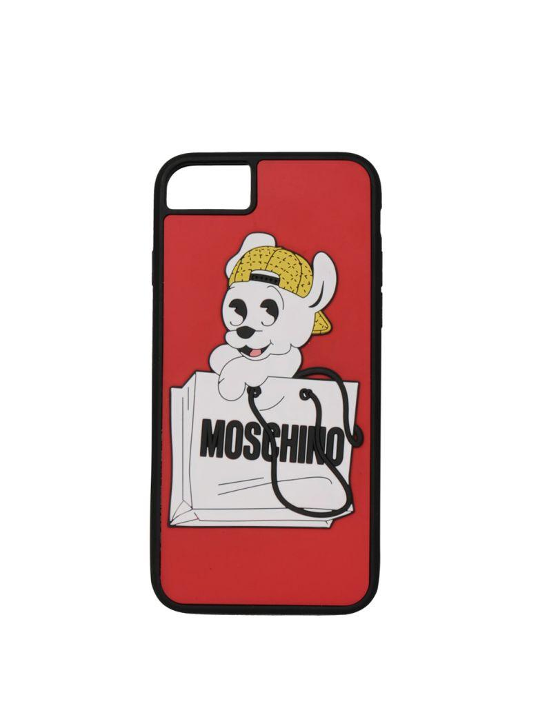 Moschino Iphone 6s/7 Cover In Rosso