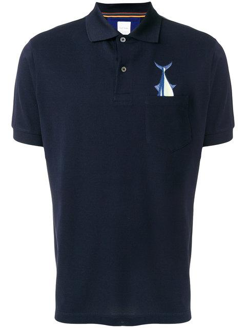 Paul Smith Tuna Pocket Print Polo Shirt