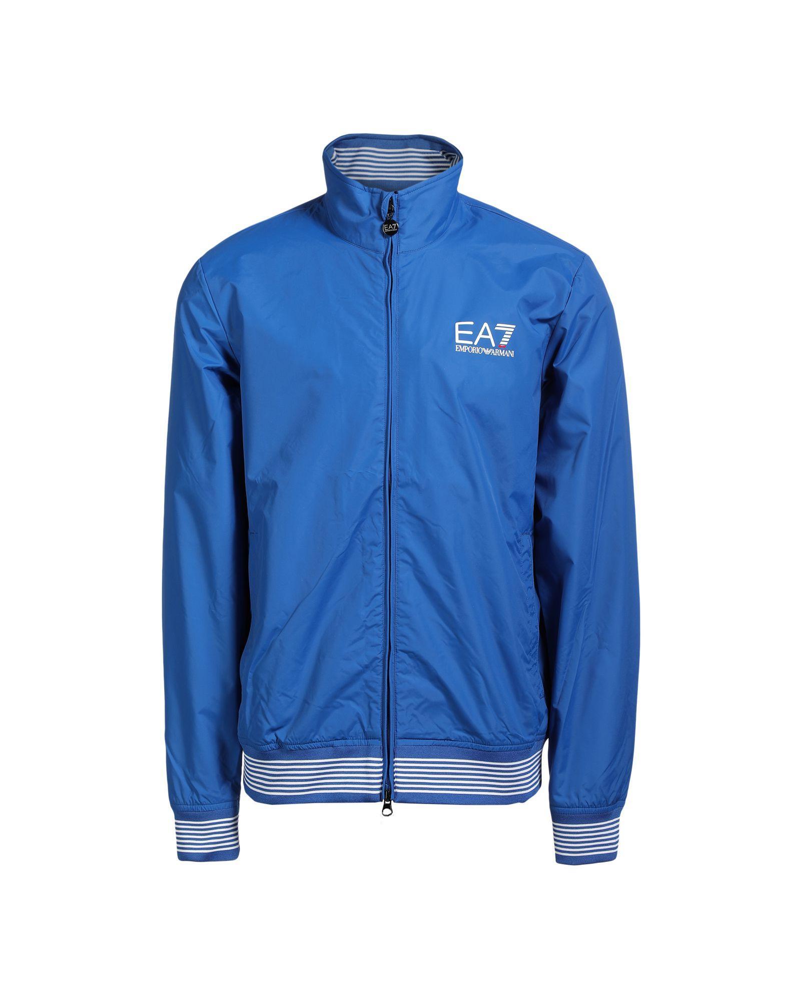 Emporio Armani Jackets In Bright Blue
