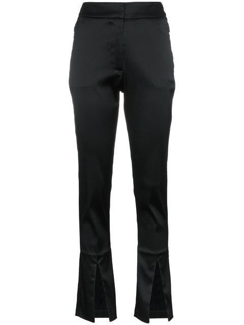 Beaufille Lenea Satin Slim Leg Trousers - Black