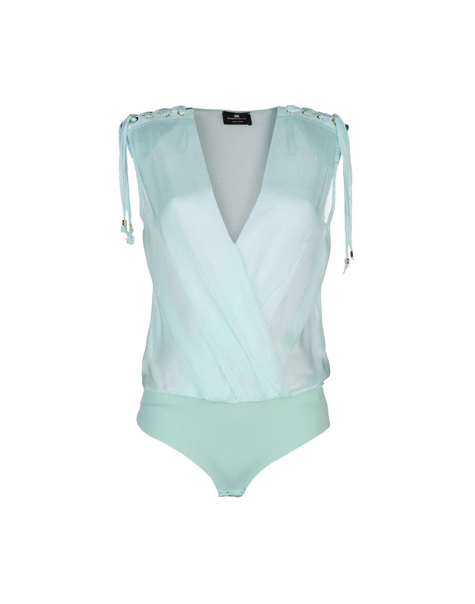 Elisabetta Franchi Silk Top In Light Green