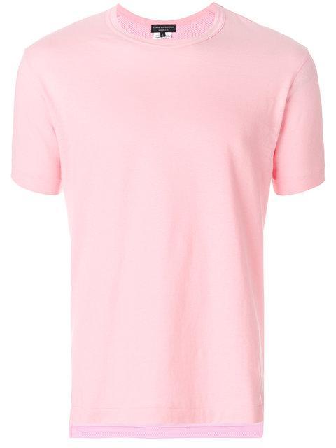 Comme Des GarÇons Homme Deux Classic Cotton T In Pink