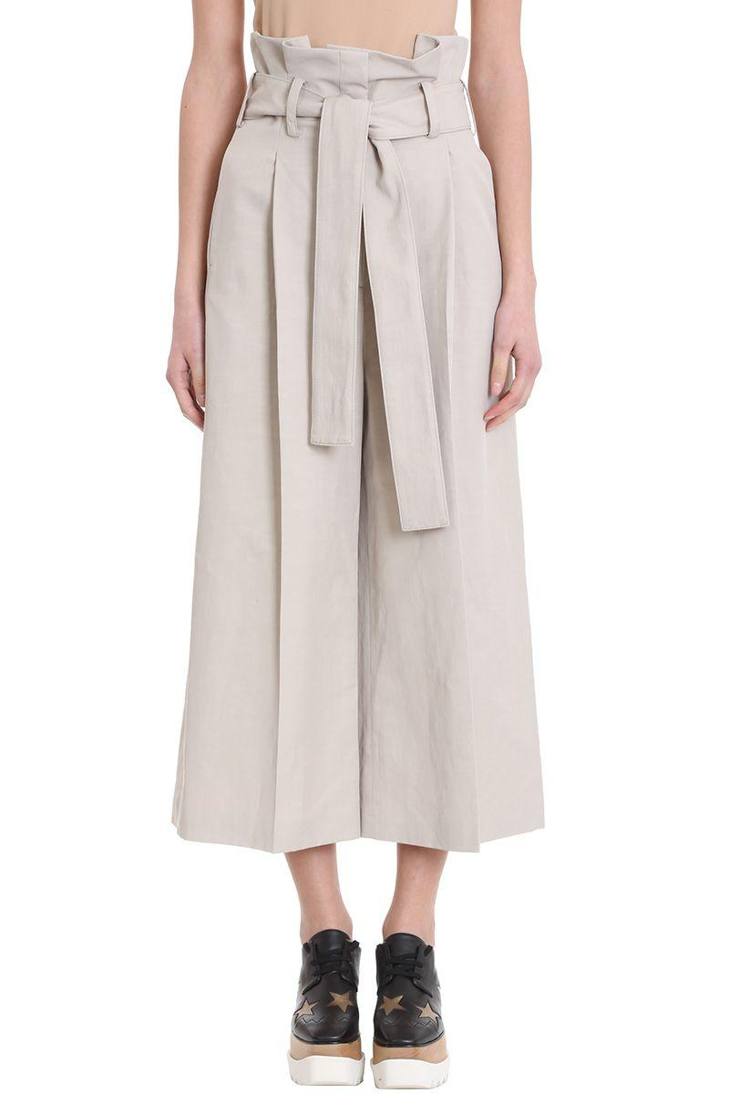 Stella Mccartney Maggie High Waist Trousers In Taupe
