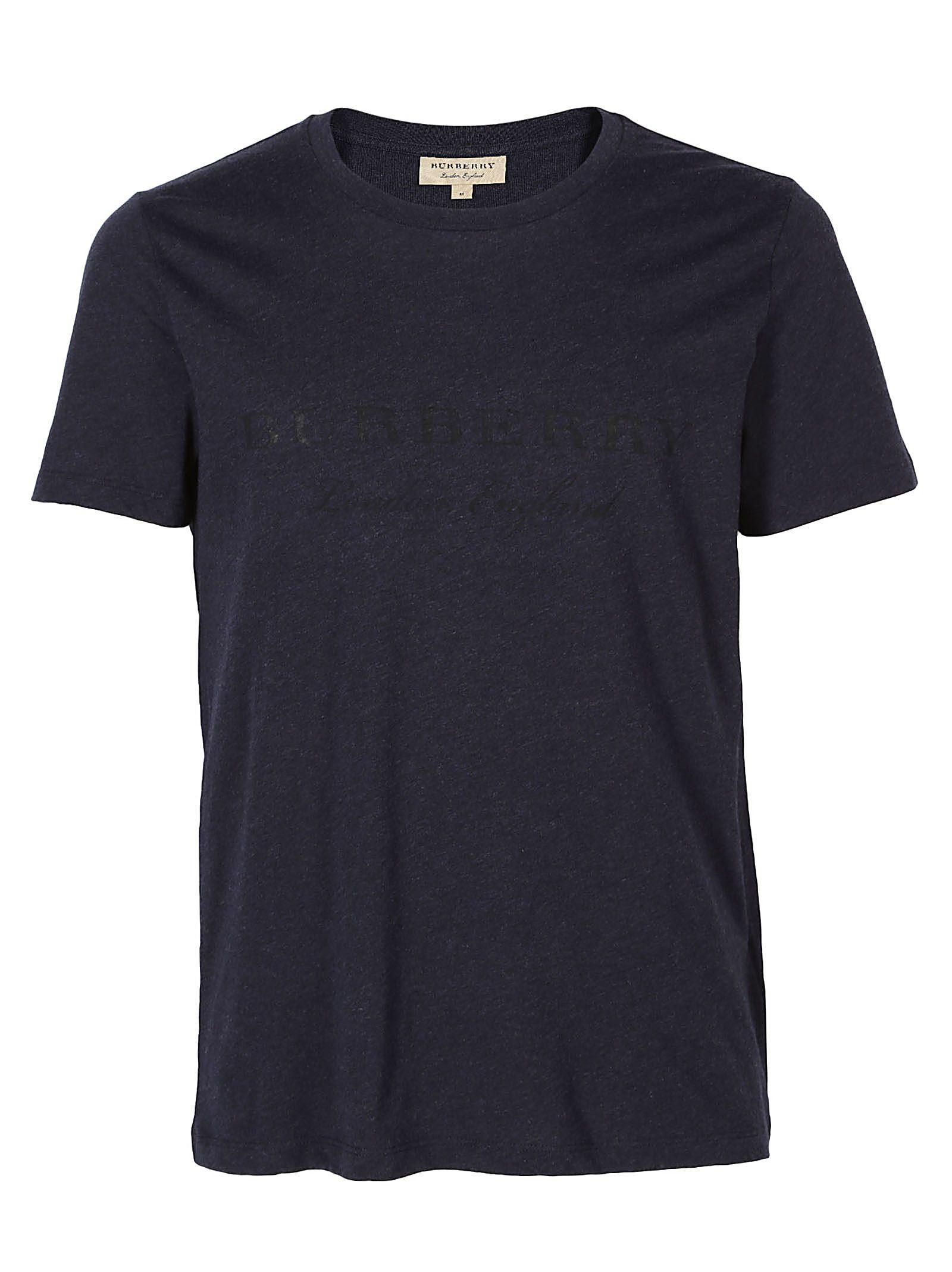 Burberry T-shirt In Navy Melange