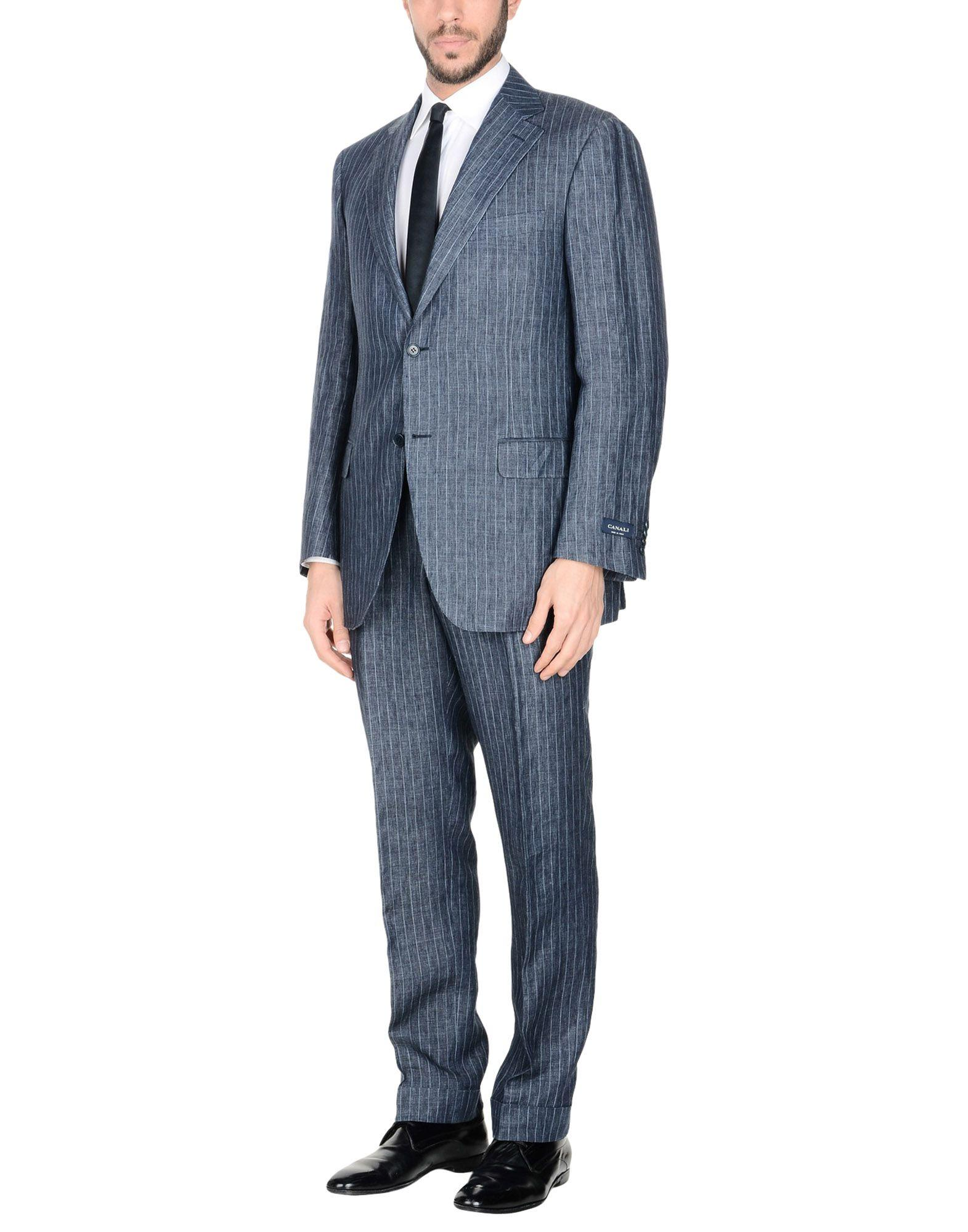 Canali Suits In Slate Blue