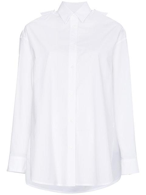 Juun.j Embroidered Back Slogan Shirt In White