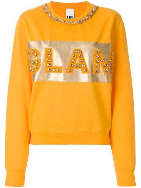 Nil & Mon Embellished Sweatshirt In Orange