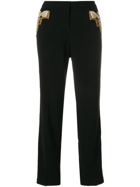 Nil & Mon Striped Detail Trousers - Black