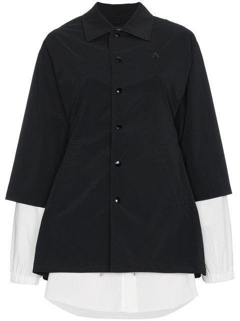 Ambush Coach Jacket Long Sleeve Dress In Black