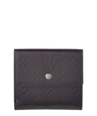 Louis Vuitton Grey Monogram Mat Vernis Leather Elise Wallet In Nocolor