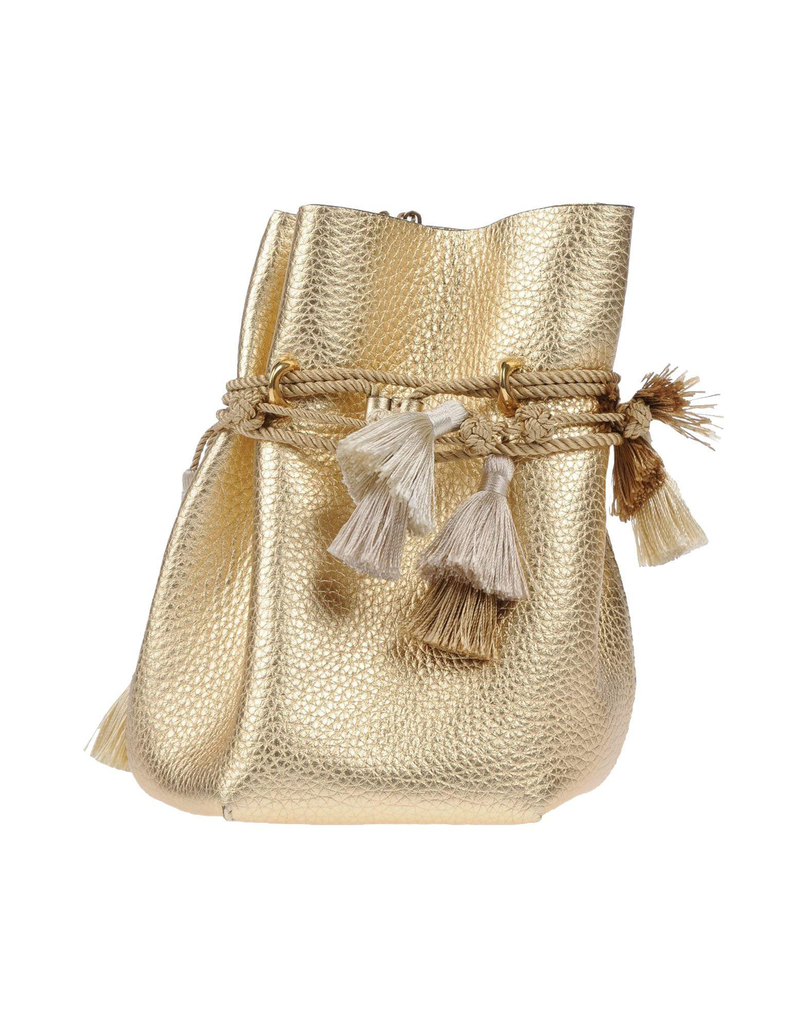 Ermanno Scervino Cross-body Bags In Gold
