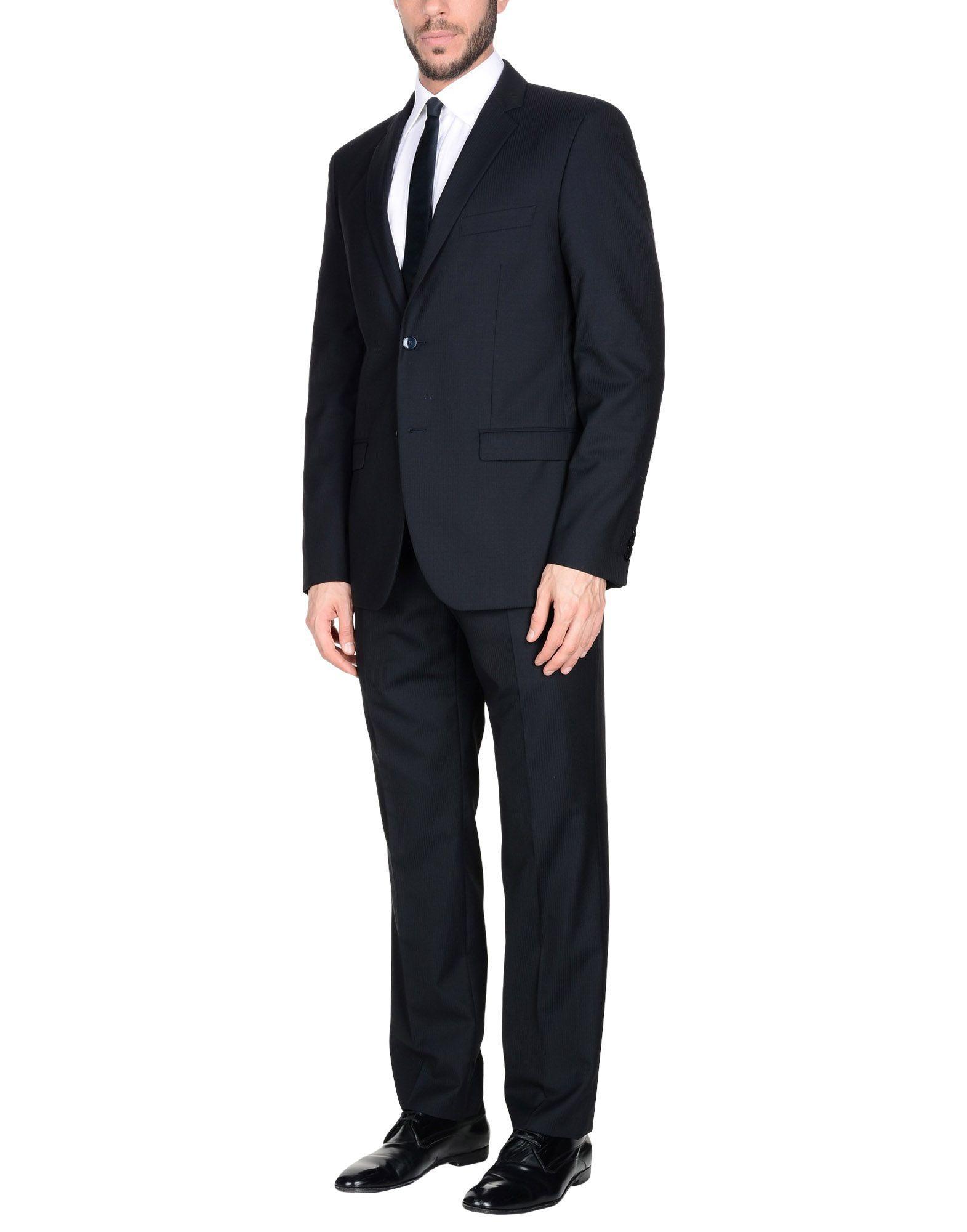 Manuel Ritz Suits In Dark Blue