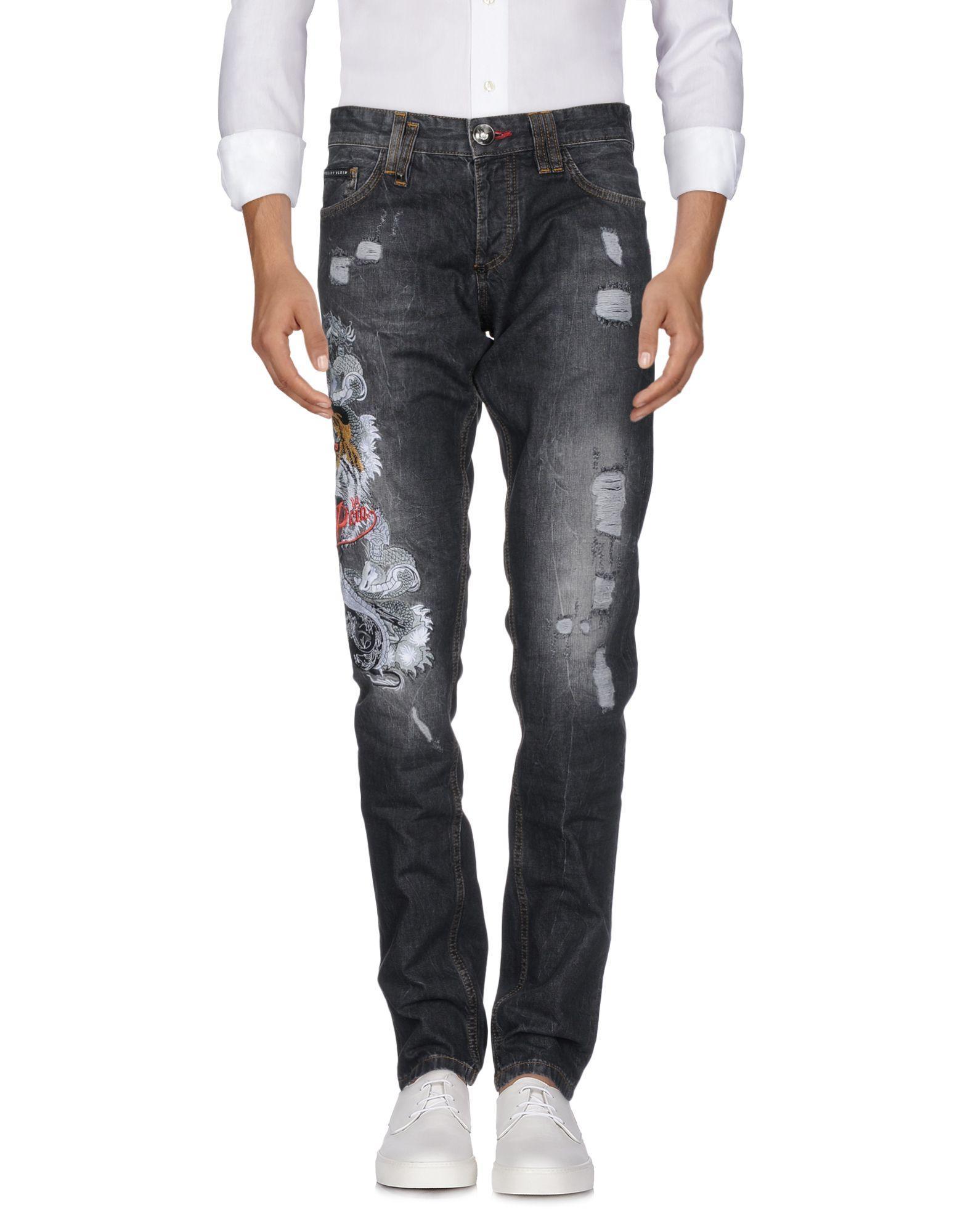 Philipp Plein Jeans In Black