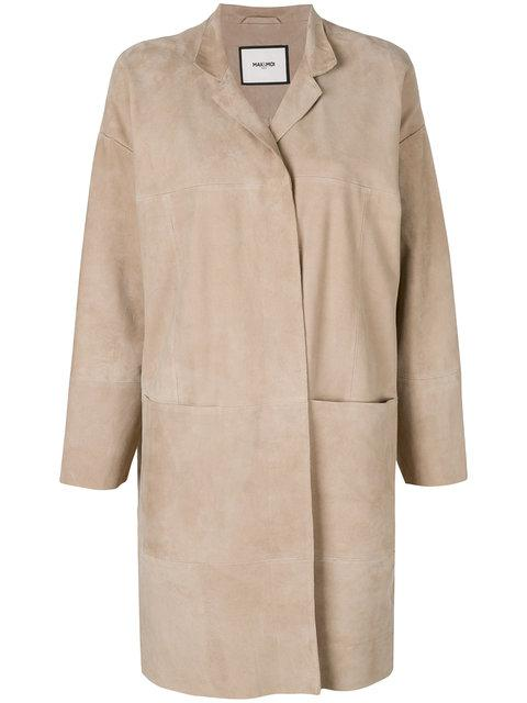 Max & Moi Longline Suede Jacket