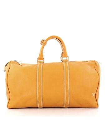Louis Vuitton Pre-owned: Keepall Bag Tobago Leather 50 In Yellow