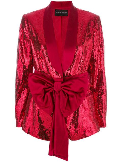 Christian Pellizzari Sequined Smoking Jacket - Red