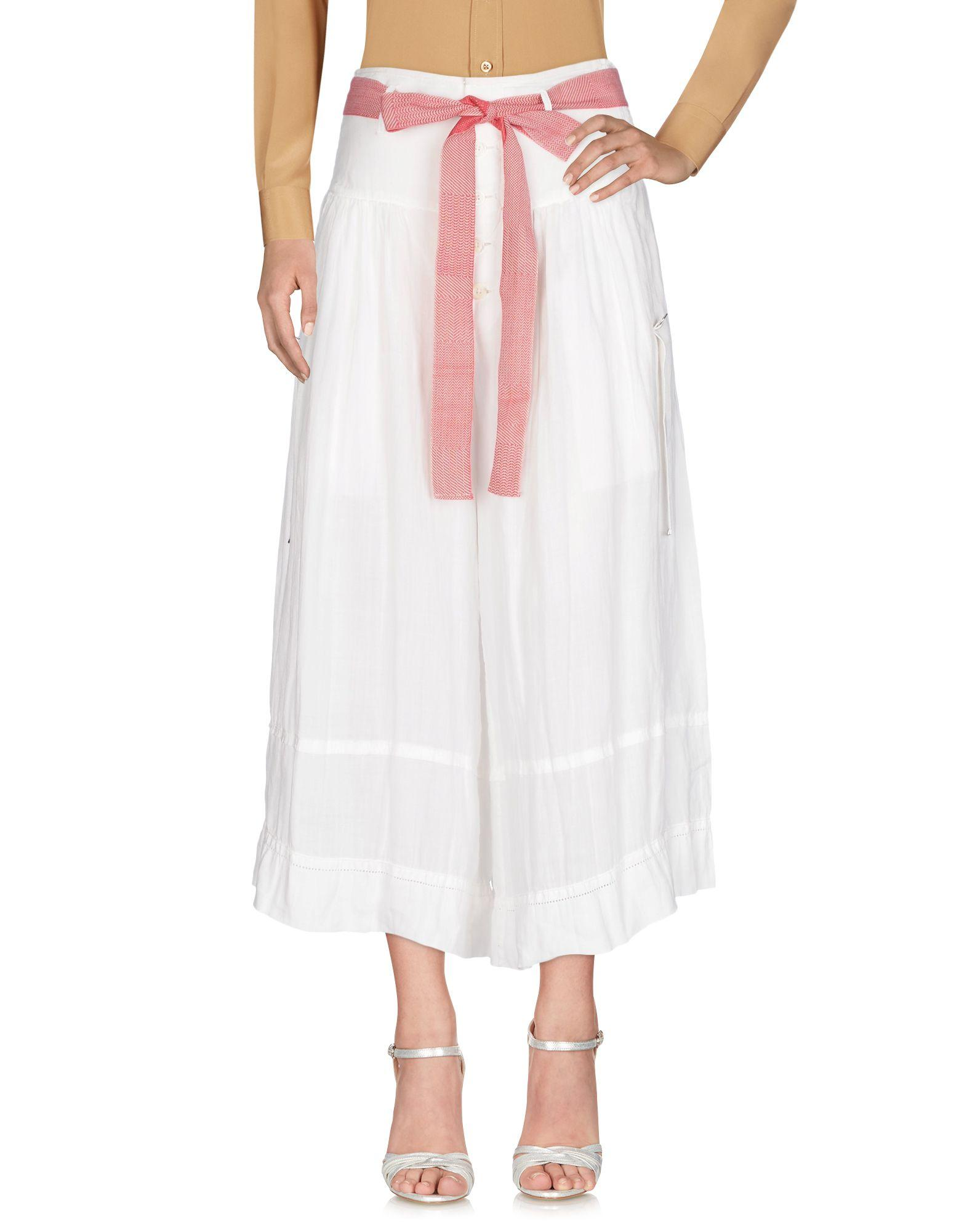 High Long Skirts In White