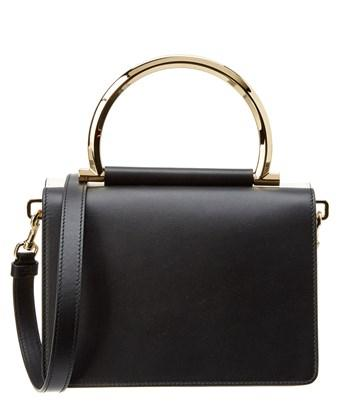 Salvatore Ferragamo Mini Gancini Top Handle Crossbody In Black